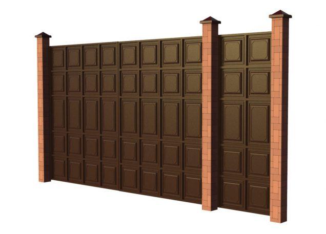 Откатные ворота с Филенкой. ЕвроСистемы